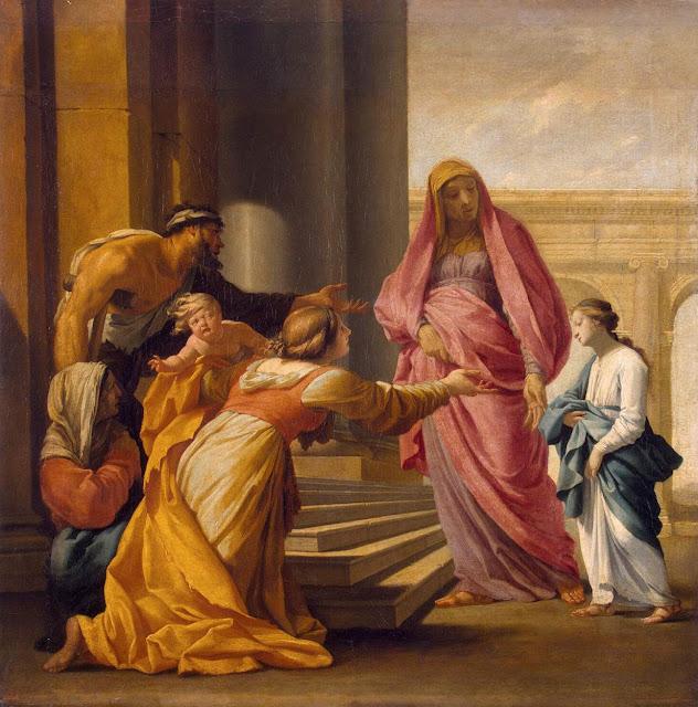 Eustache Le Sueur - Presentation of the Virgin in the Temple