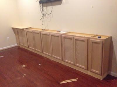 cabinet base installed