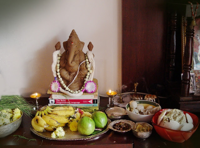 Ganesha after the pooja
