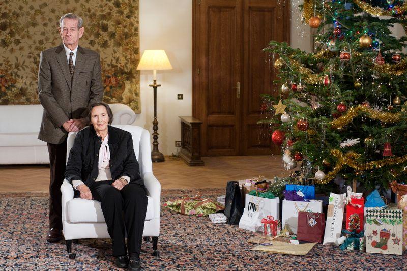 Regele Mihai și Regina Ana, la Săîvârșin, de Crăciun