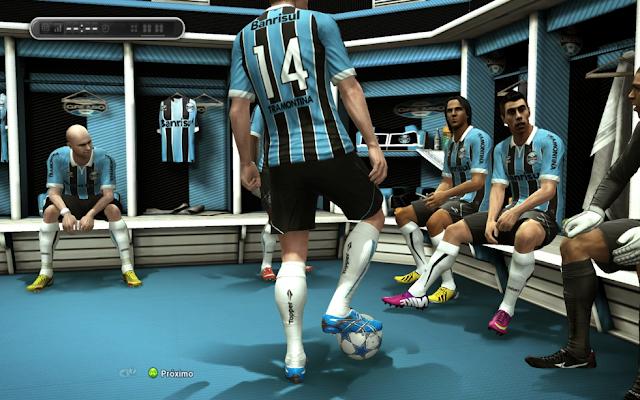 Vestiário do Grêmio - PES 2013