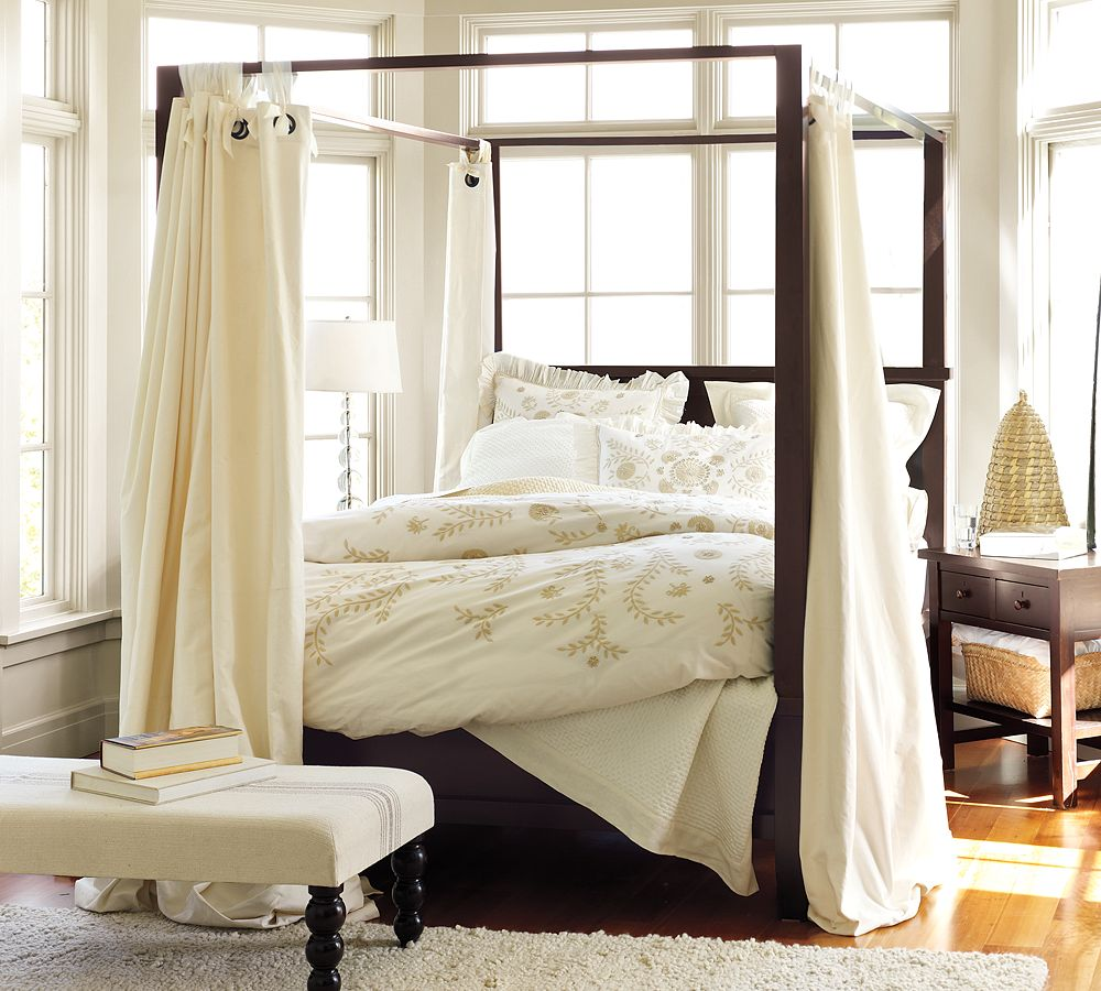 Cool home creations the look for less canopy bed - Pictures of canopy beds ...