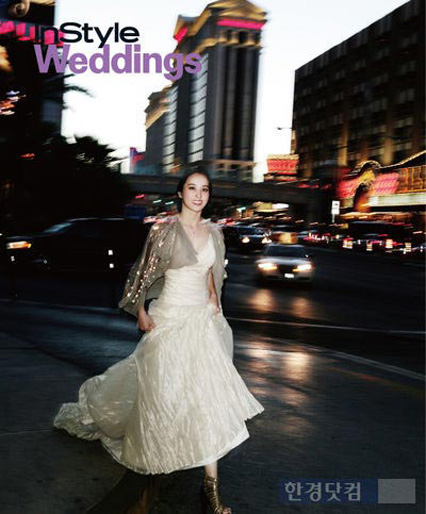 COOL PICTURES: Han Hye Jin In Wedding Dress At The Instyle