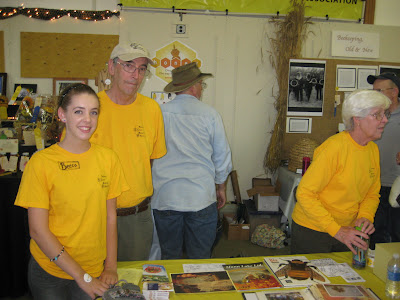 volunteering at bee booth during Great Frederick County Fair