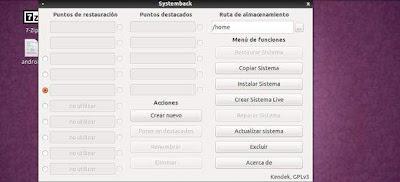 Systemback, otra herramienta útil para copias de seguridad y más…