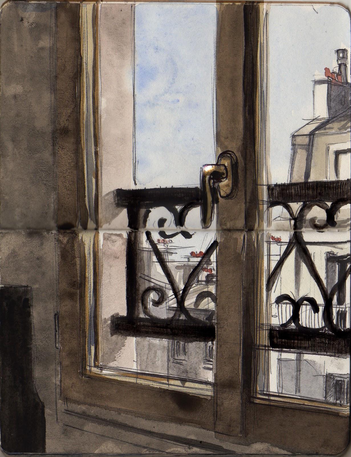 Gut bekannt insadrawings.: Paris - Depuis ma nouvelle fenêtre (dessin du  KH34