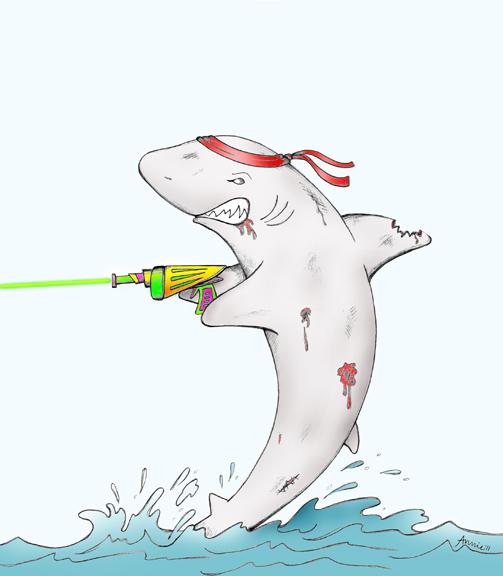 Canada Goose toronto sale cheap - Annie Ink: Zombie Laser Shark!