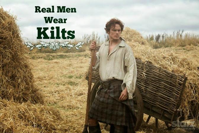 Jamie from Starz Outlander Series: Real Men Wear Kilts