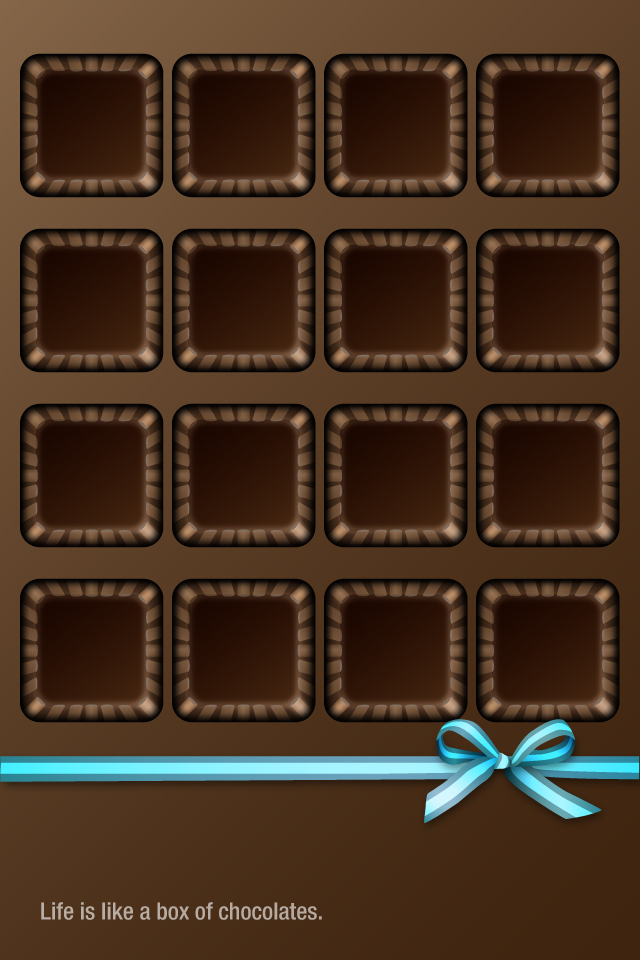 Chocolate Box HD Graphics Pictures Shelf Wallpapers For iPhone4