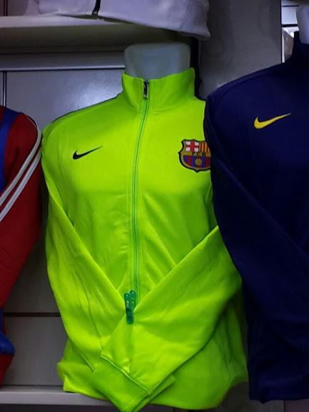 Jaket Barcelona Hijau Muda 2014