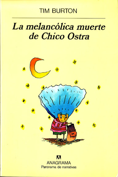 """Portada del libro """"La melancólica muerte del chico Ostra"""", de Tim Burton"""
