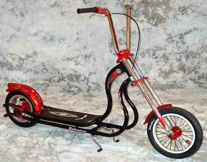 trottinette chopper Schwinn Stingray, couleur rouge - annee 2005