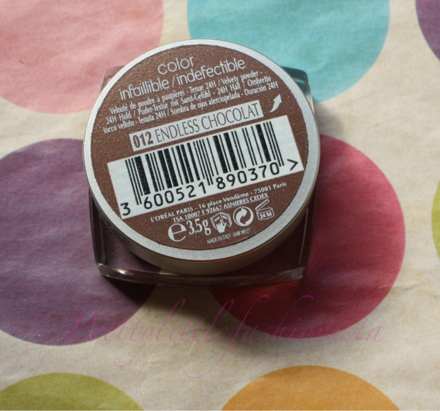 L'Oreal Colour Infallible in Endless Chocolate
