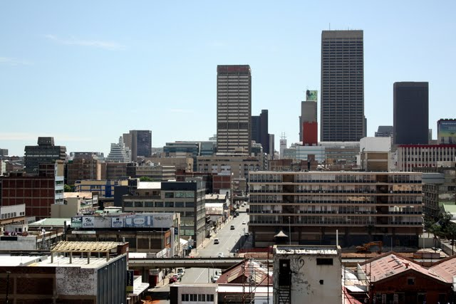 CBD skyline in Johannesburg South Africa