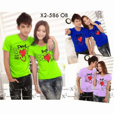 Kaos Couple Murah Devil Angel