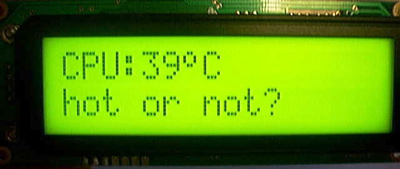 2x16 LCD from Crystalfontz using LCD software