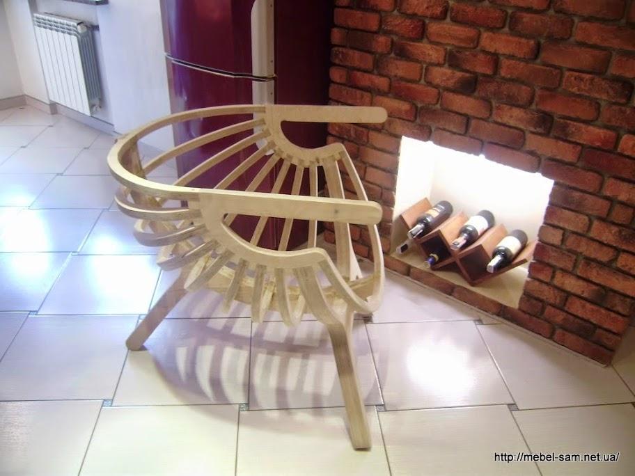 Фанерное кресло созданное maratura