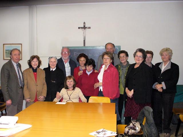 p. Ugo Montagner al gruppo missionario