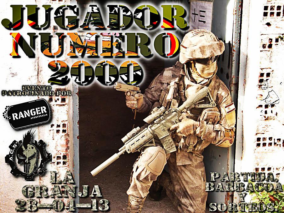USUARIO NÚMERO 2000. Partida, barbacoa y sorteos. La Granja.28-04-13 Jugador+2000+1