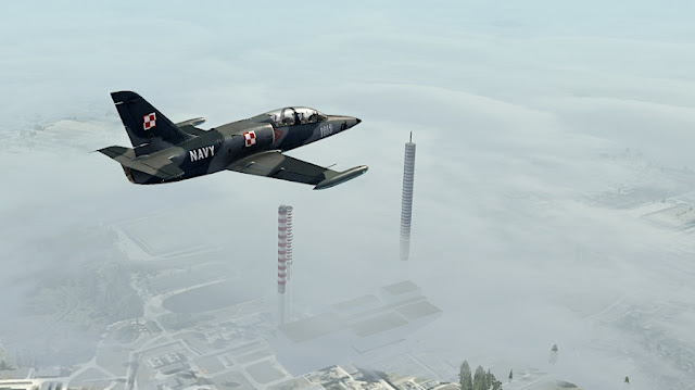 L-39 nadŁodzią, przedlądowaniem wEPLL