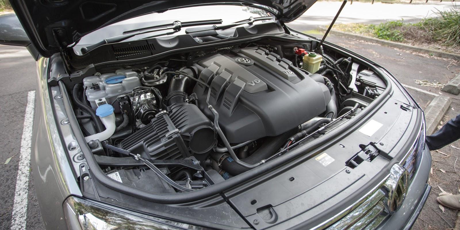 Động cơ dầu chưa được xe là mạnh trên Volkswagen Touareg 2016, nhưng hoạt động quá ổn
