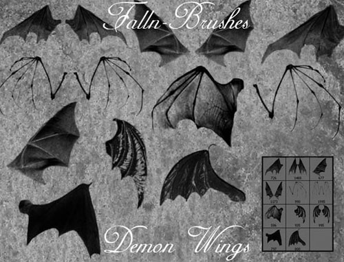 bat and demon wings photoshop brushes