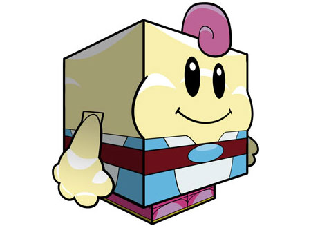 Super Mario RPG Mallow Papercraft