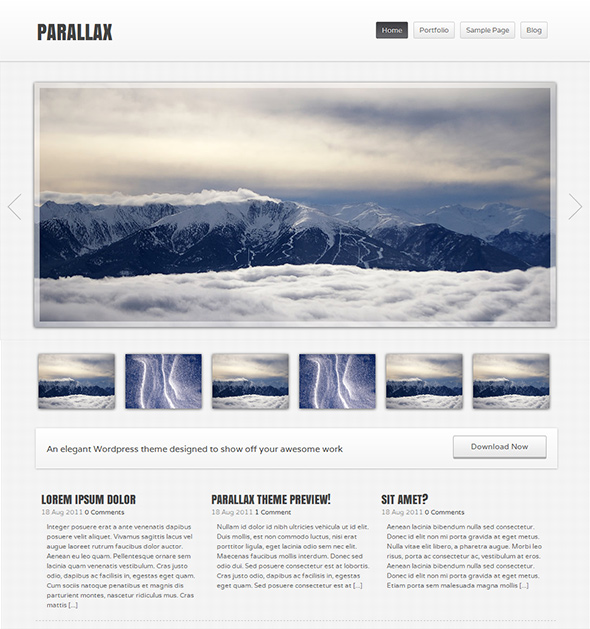Parallax Free WordPress Theme