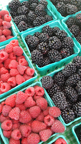 Just another normal find of beautiful berries at the Hollywood Farmers Market in Portland, on an August lunch visit to the market