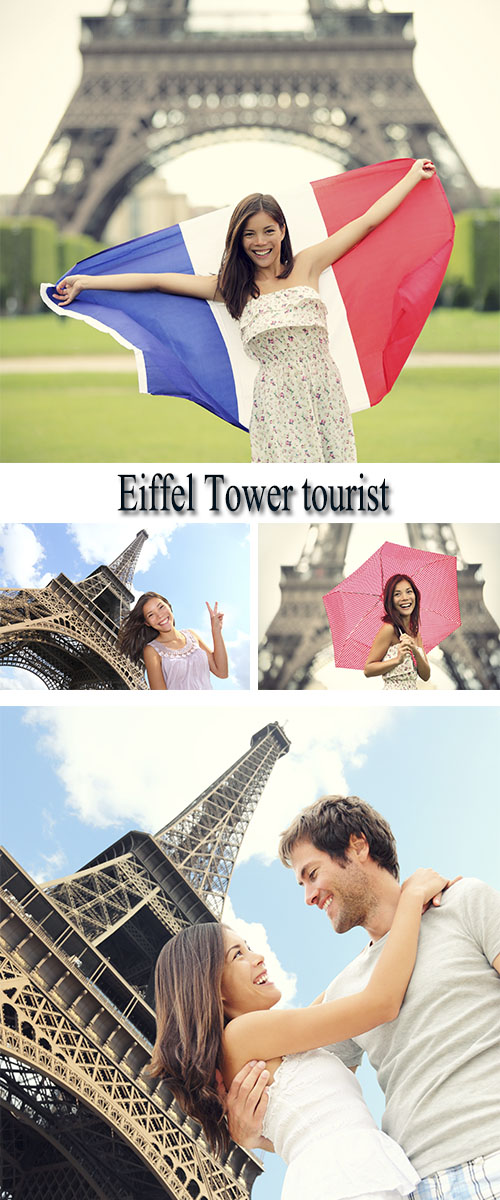 Stock Photo: Eiffel Tower tourist