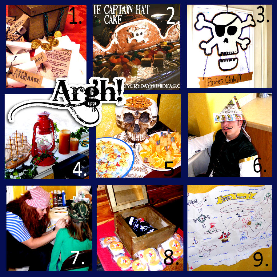 Here are some fun ideas for a kids pirate themed party.