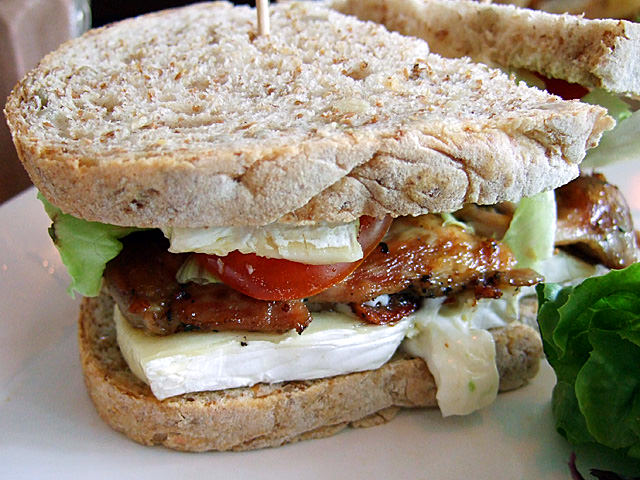 Chicken, avocado and brie sandwich