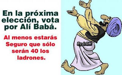 Nas próximas eleições vota Ali Babá