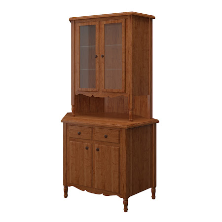 Farmhouse Corner Cabinet in Itasca Maple