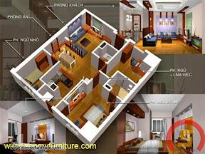 Mẫu nội thất  căn hộ SMF698