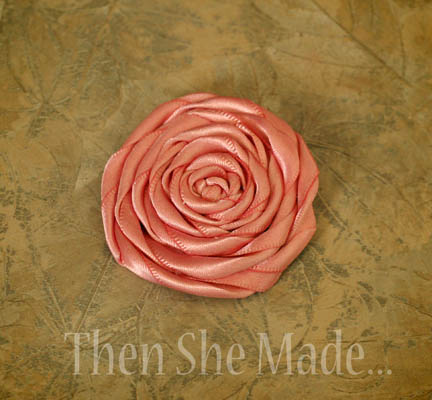 Then she made   : Flower Tutorial #2