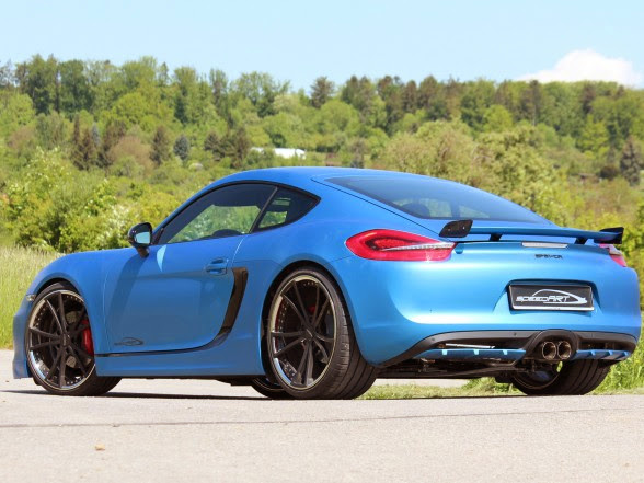 2013 speedART Porsche Cayman SP81-CR - Rear Angle