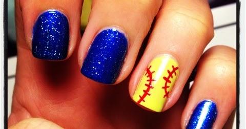 - Queen Nail Designs: Softball Love!
