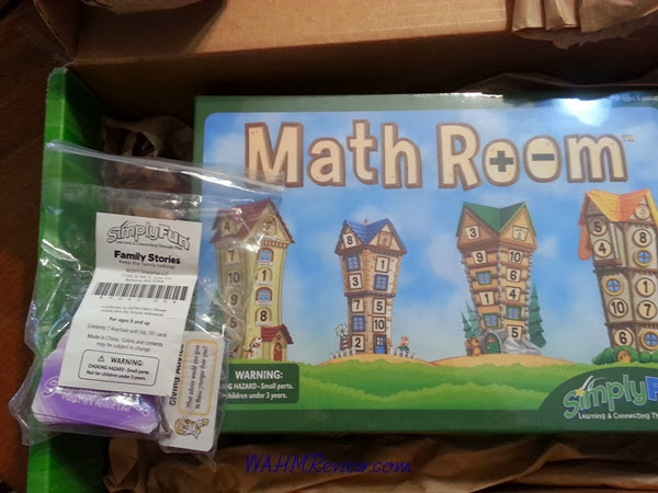 I had decided to play Math Room with the girls while my hubby and son went to a basketball game.