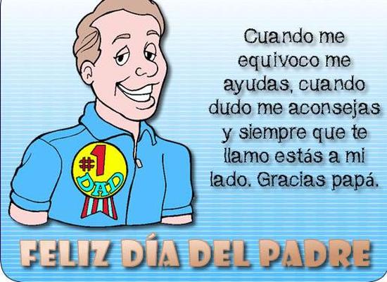 Mensajes dia del padre. Palabras para felicitar a papa en su dia