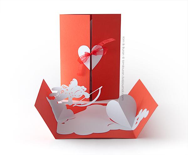 киригами валентинка