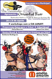 Workshops com Kilma Farias e Cia Lunay!