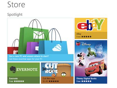 Windows Store作用與 Apple App Store作用相同。開發者可以上傳應用到這裏,消費者可以在這裏購買應用,豐富自己的操作系統。