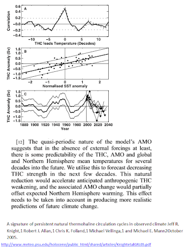 THC and the AMO time series