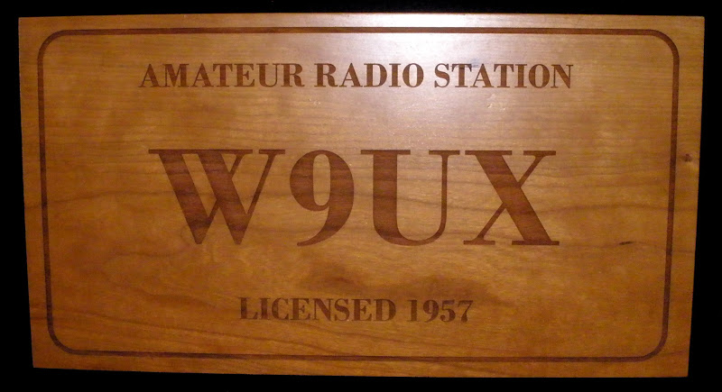Large Cherry Laser Engraved Carved Call Sign Wall Plaque