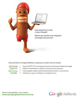 Google usa saci-pererê como garoto-propaganda
