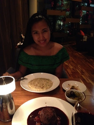 Porcini Mushroom Risotto and cream of Parmesan's: Lady's food at Filini Restaurant, Radisson Blu Hotel, Yas Island Abu Dhabi
