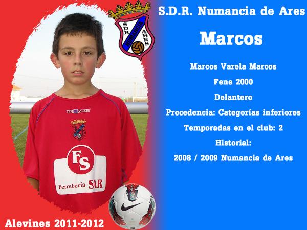 ADR Numancia de Ares. Alevíns 2011-2012. MARCOS.