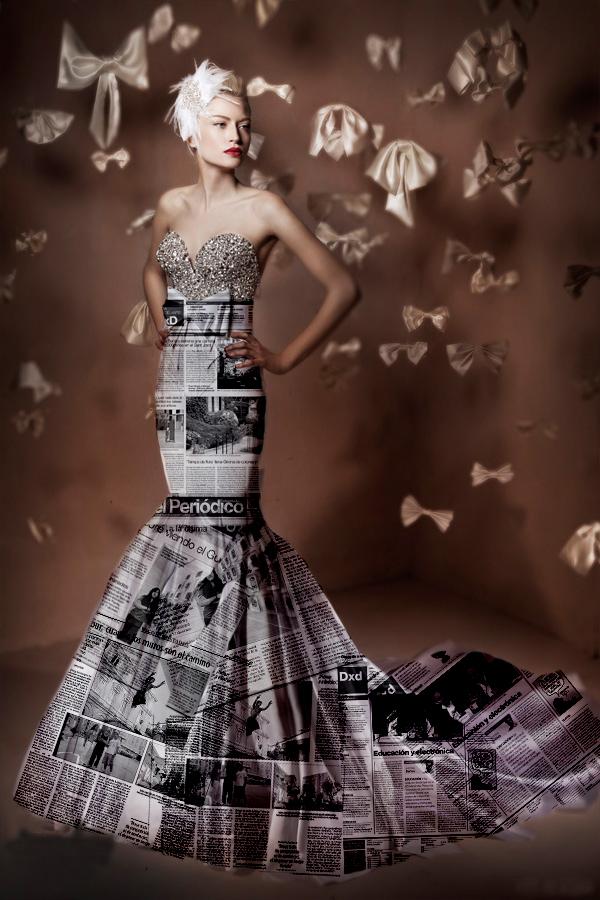 Vestidos de novia hechos de material reciclable