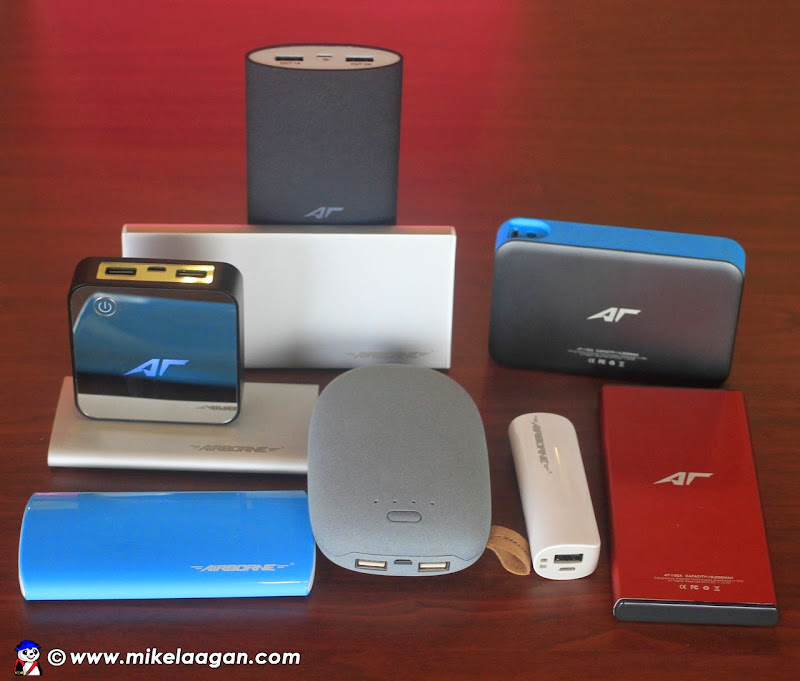 Airborne Technologies range of powerbanks